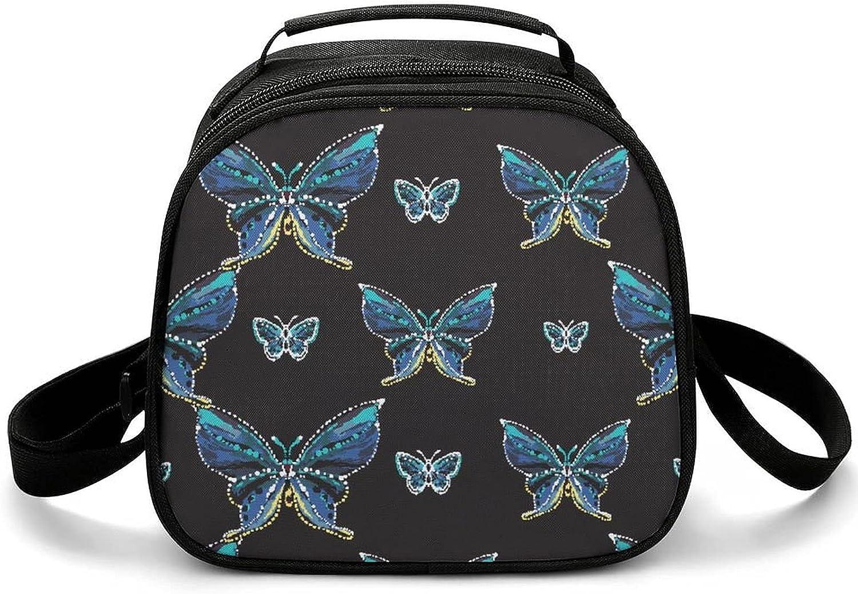 Fiambrera Para Niños Mariposa Azul Bolsas De Almuerzo Para Niñas, Niños Y Adolescentes
