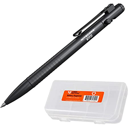 NITECORE NTP31 Bolt Action Tactical Pen with Tungsten Steel Glass Breaker and LumenTac Organizer