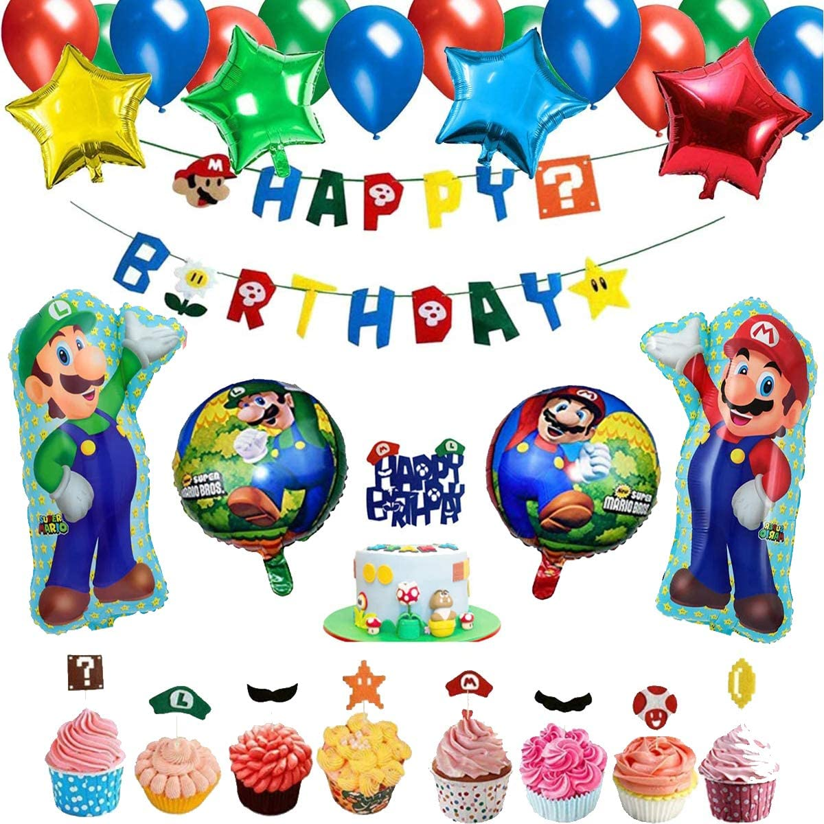 Mario Birthday Party Supplies Sale Special Price Happy All items in the store - Super Bros