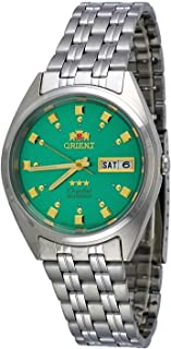 #FAB00009N Men's 3 Star Stainless Steel Green Dial Self Wind Automatic Watch