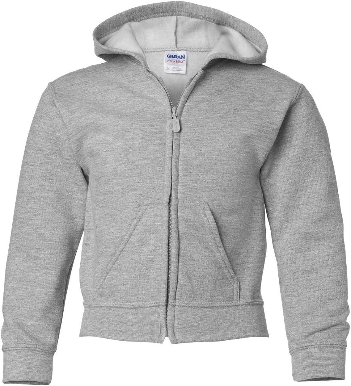 Heavy Blend Full Zip Hooded Sweatshirt (G186B) Grey, M (Pack of 12)
