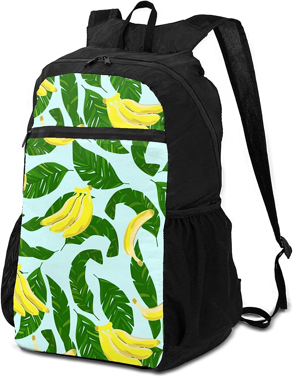 1 year warranty Palm Leaves and Sweet Yellow Backpa Lightweight Bananas excellence Packable