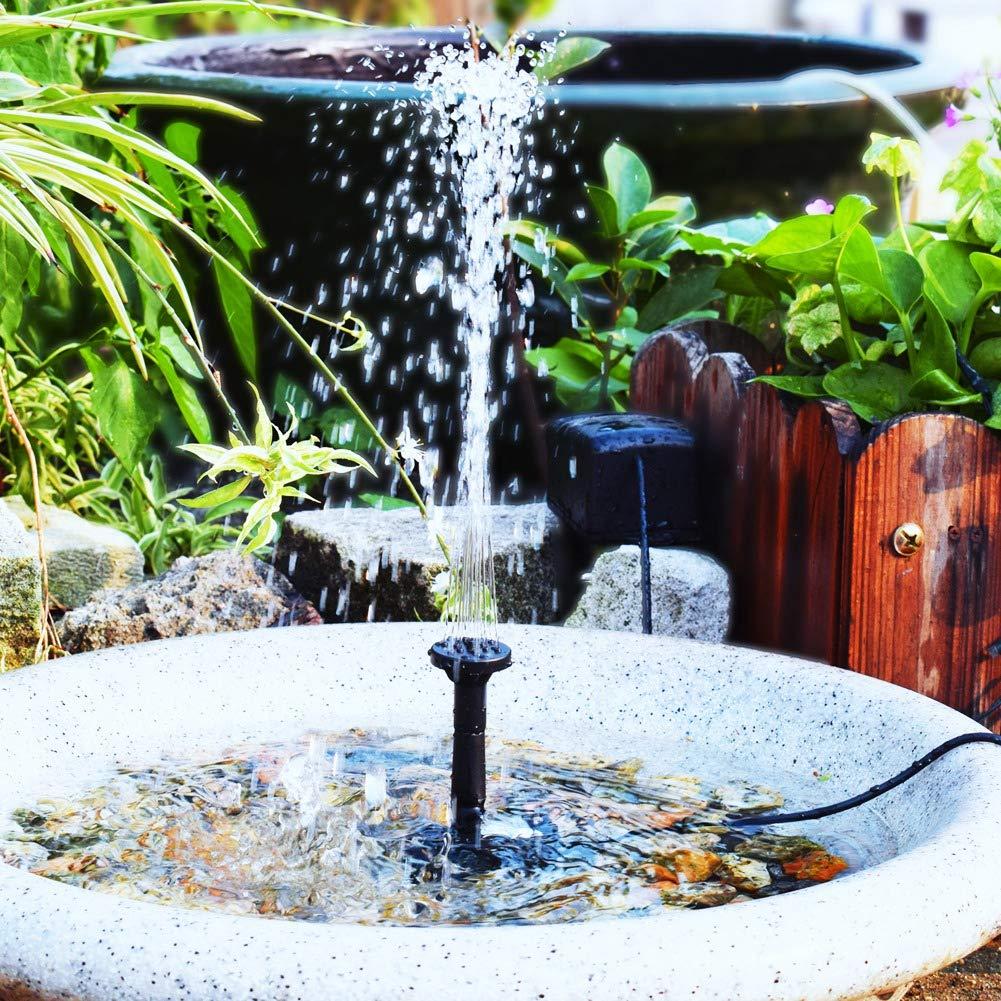 Bomba de fuente de baño solar para pájaros, bomba de fuente solar de 2 W Bomba de fuente flotante de paisaje flotante para baño de pájaros, estanque y piscina Decoraciones de jardín: