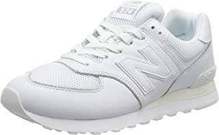 Men's 574 Leather Trainers, White