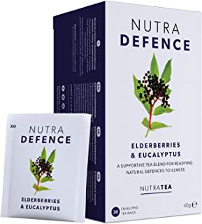 Sponsored Ad - NUTRADEFENCE - Cold and Flu Tea | Immunity Tea - Supports & Boosts The Immune System – Includes Elderberry,...