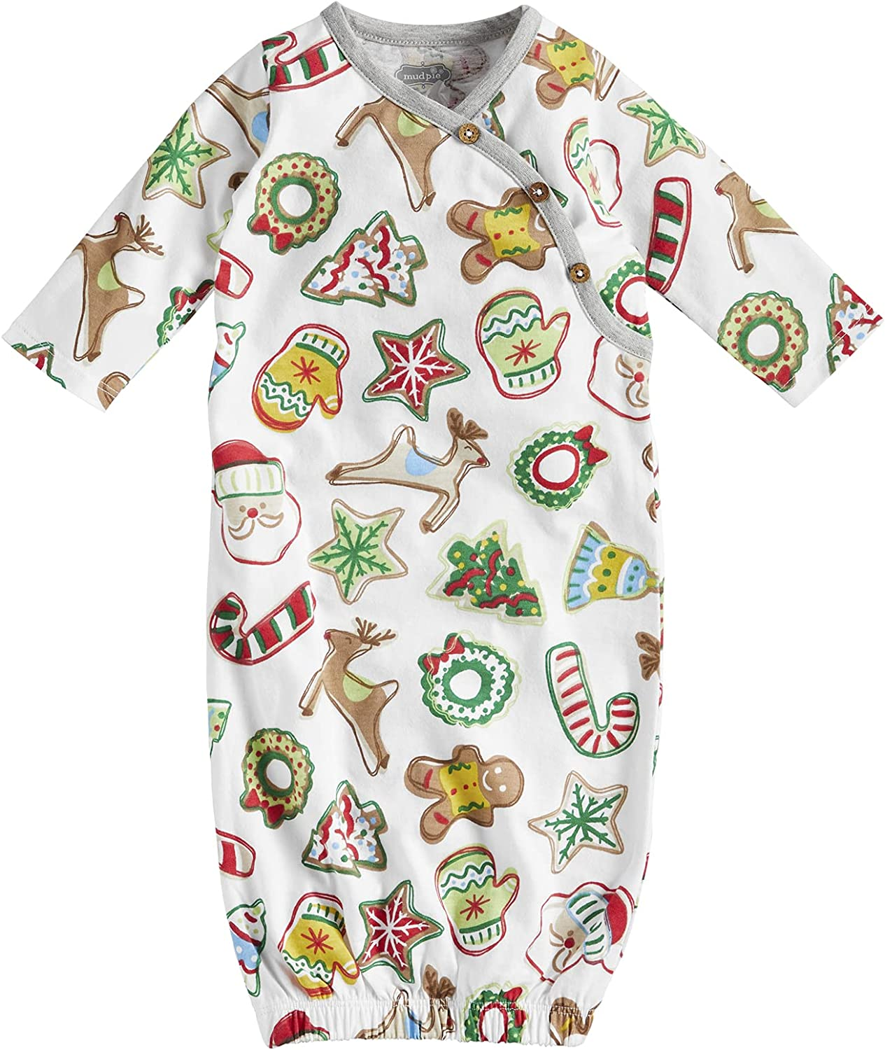 Mud Pie Baby Christmas Cookie Gown, Multi, 0-3 Months