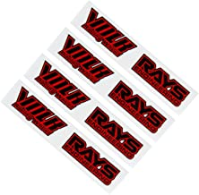 4 PCS Volk RAYS Car Wheel sticker Decal Compatible with 17-19 inches wheels (Red)