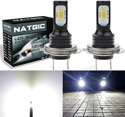 RETYLY 1 par de Bombilla LED H7 de Alto Voltaje Luz de Niebla del Coche 100W 20LED Faros de la lampara 6000K Blanco