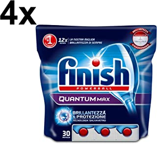 Finish 120 片洗碗机用清洁片剂 Quantum Max 系列,常规包装(465 gr A conf)