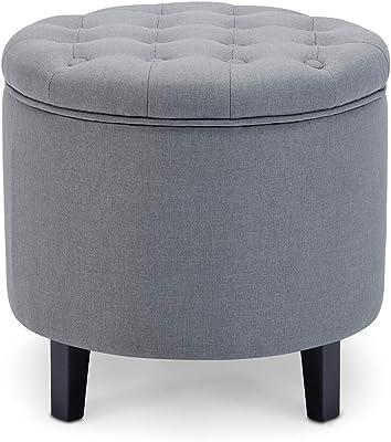 Surprising Amazon Com Poundex Pdex F7062 Ottoman W Storage White Pdpeps Interior Chair Design Pdpepsorg