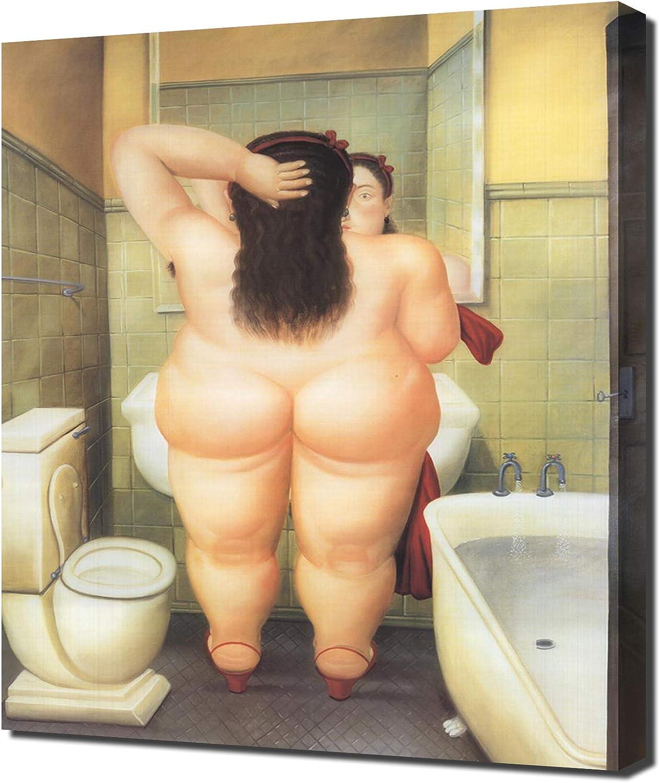 Be super National products welcome Lilarama USA Fernando Botero The Bath Bano Print Canvas Il - Art