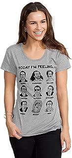 Headline Shirts Nicolas Cage Mood Board Funny Graphic Screen Printed Crewneck T-Shirt for Women