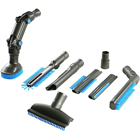 4YourHome Car Valeting Vacuum Cleaning 8 Piece Attachments Kit Fits Numatic Henry Vax Dyson Electrolux Miele Hoover, Shark, VonHausa