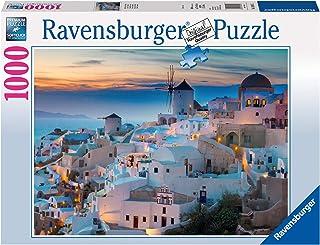 Ravensburger- Puzzle 1000 pièces Santorin Adulte, 4005556196111, Néant