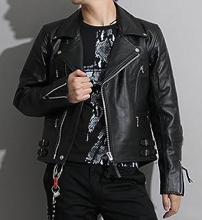 【本革】革ジャン バッファローレザー メンズ UKタイプ ダブルライダースレザージャケットpb-1508bk