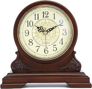 Skorsten klocka, dämpa dekorativa holzuhr, trä design för vardagsrum, öppen spis, kontor, kök, skrivbord, hylla och hem de...