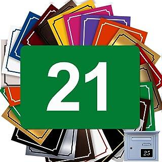 Zelfklevend huisnummer van PVC – gegraveerd bord – groot 10 x 7 cm – 21 kleuren verkrijgbaar (groen)