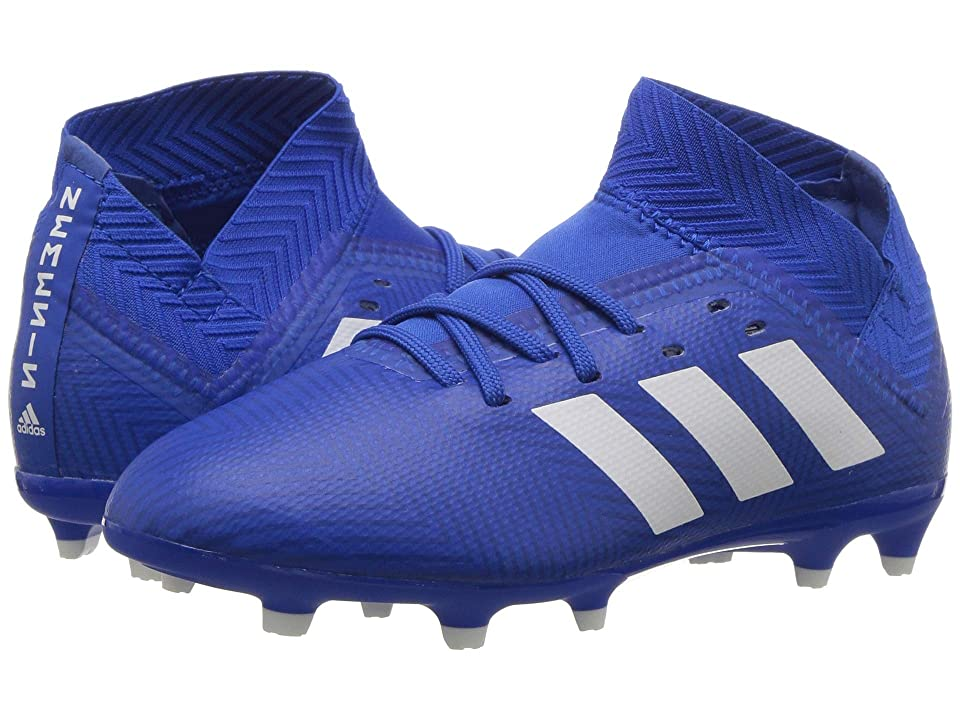 adidas Kids Nemeziz 18.3 FG Soccer (Little Kid/Big Kid) (Blue/White) Kids Shoes