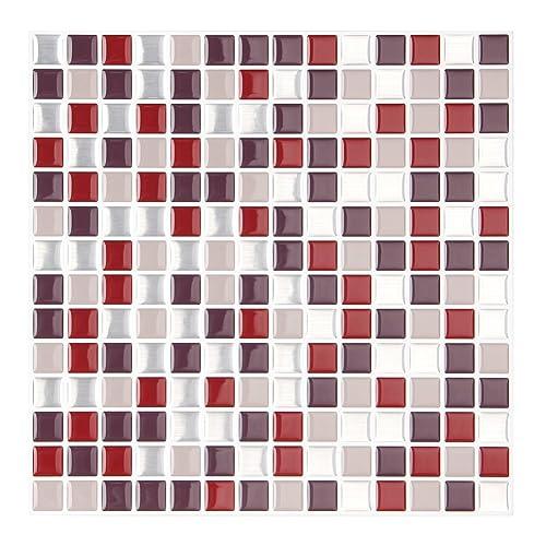 Red Backsplash Tile For Kitchen Amazon Com
