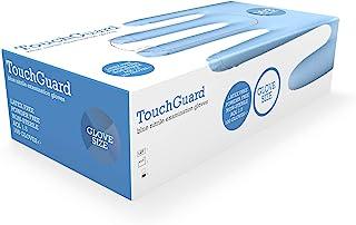 TouchGuard Blue Nitrile Disposable Gloves, Latex & Powder-Free, Box of 100, Medium