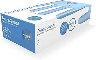 TouchGuard - Guantes de nitrilo azules desechables sin polvos ni látex, caja de 100 unidades, extragrandes