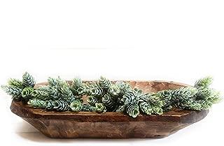 Decorative Wood Dough Bowl- Farmhouse Rustic Bowl- The Medium Durango