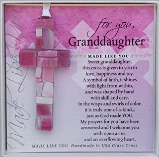 For You, Handmade Mosaic Glass Cross With Loving Sentiments Perfect Christian Gift For Granddaughter (Granddaughter)