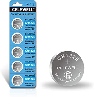 ?5-Year Warranty? CELEWELL 5-Pack CR1225 3V Lithium Battery for Thermometer Watch CR 1225