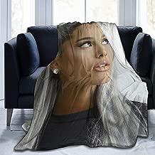 Davisry Ultra-Soft Micro Fleece Throw Blanket Aria-na-Gran-de Warm Luxury for Bed Sofa Garden Car