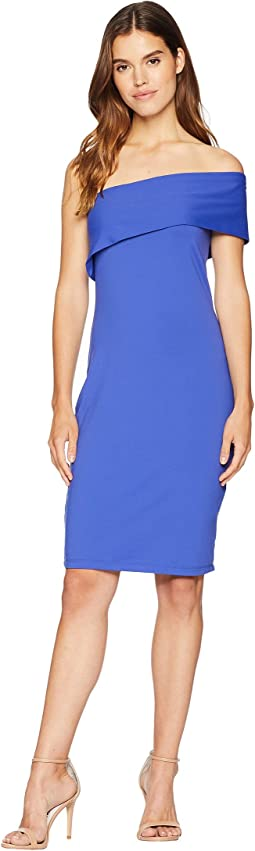 Adriana One Shoulder Fold-Over Dress