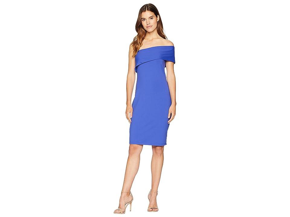 Susana Monaco Adriana One Shoulder Fold-Over Dress (Hyacinth) Women