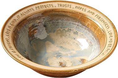 ART & ARTIFACT Love is Patient Artist-Made Stoneware Wedding Bowl