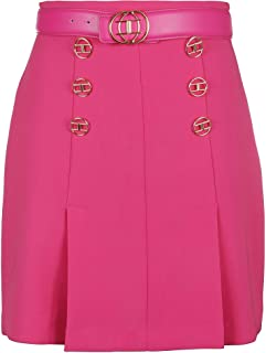 Elisabetta Franchi Luxury Fashion Womens GO32397E2V85 Fuchsia Skirt | Fall Winter 19
