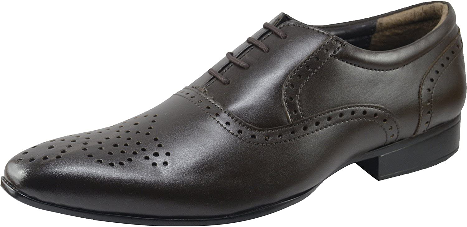 VONZO Men's Formal Modern Classic Lace up Synthetic Leather Lined Lined Oxford Dress schuhe  bis zu 70% sparen