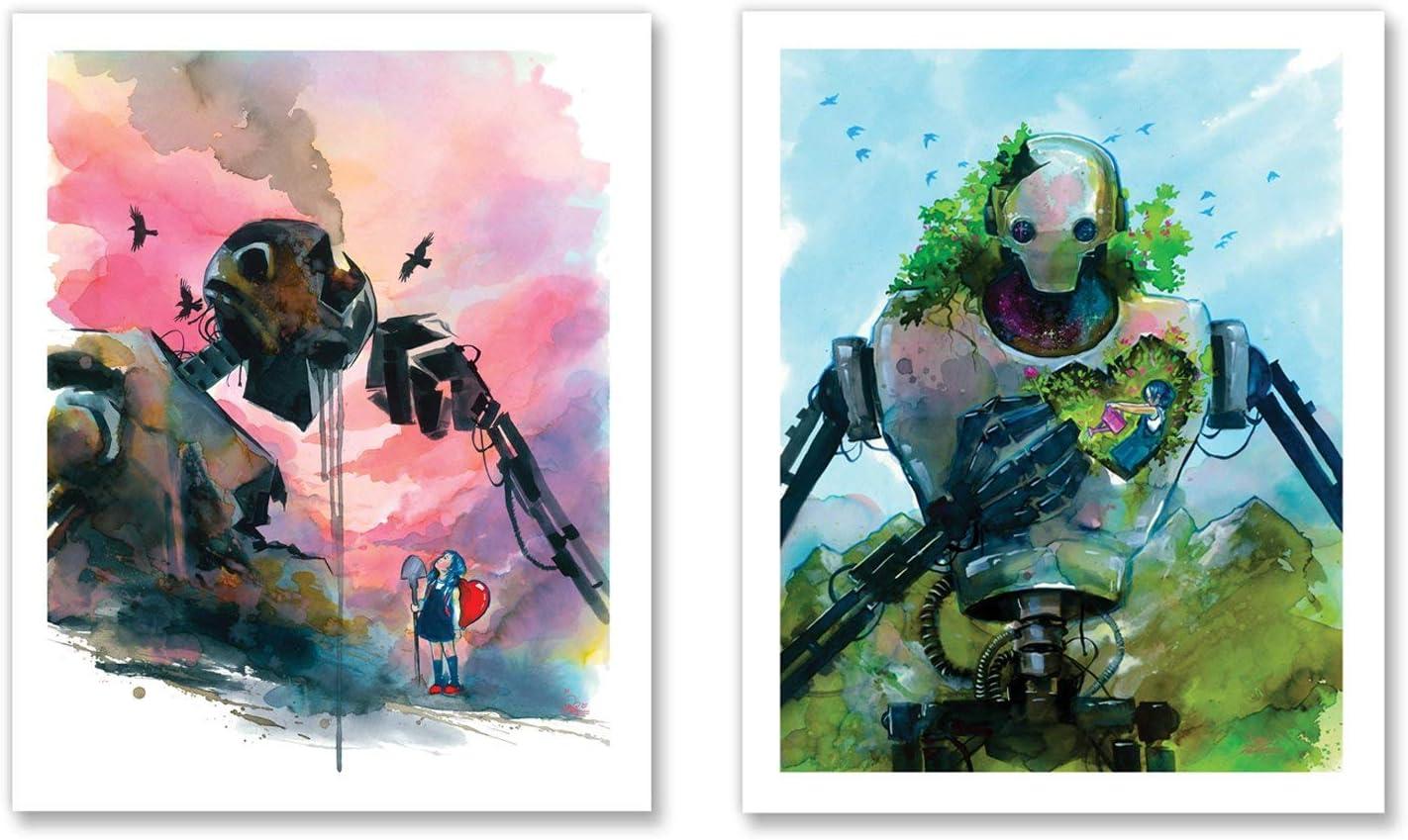 Little Girl Big Steel I + II Lora New Free Shipping Print Art Zombie Studio Set by low-pricing