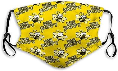 mizongxiahuoguo Adjustable and Replaceable Outdoor Mask Seamless Bumblebee Yellow Yellow Skiing Cover