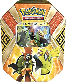 Pokemon TCG: Sun & Moon Guardians Rising Collector`s Tin Containing 4 Booster Packs and Featuring A Foil Tapu Koko-GX