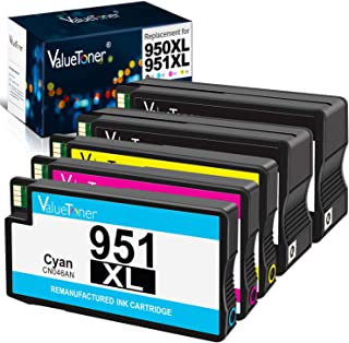 Valuetoner Remanufactured Ink Cartridge Replacement for HP 950XL 951XL 950 XL 951 XL for Officejet Pro 8100 8600 8610 8615 8620 8625 8630 8640 251dw High Yield (Black/Cyan/ Magenta/Yellow,5 Pack)