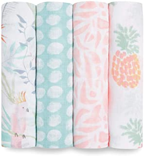 aden + anais Swaddle Blanket, Boutique Muslin Blankets for Girls & Boys, Baby Receiving Swaddles, Ideal Newborn & Infant S...