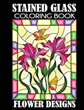 Stained Glass Coloring Book Flower Designs