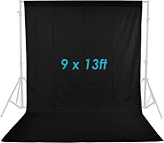 Neewer 9x 13ft/2,8x 4m foto Studio 100% Pure müslinden katlanabilir arka plan için arka plan fotoğraf, video ve televizyon (sadece arka plan), siyah