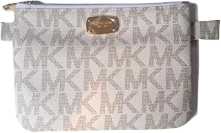 Michael Kors Mk Logo Leather Belt Bag (Large, Ivory)