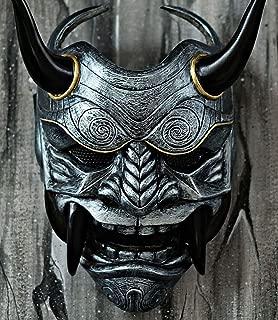 tripple_777 Samurai Assassin Demon Oni Airsoft Mask BB Gun Halloween Costume Ninja Warrior Evil Cosplay Silver DA04