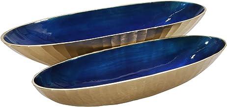 وعاء بيضاوي من الألومنيوم 60.96 سم، ذهبي فاتح (مجموعة من 2)، طول 60.96 سم × عرض 20.32 × ارتفاع 15.24 سم، عدد 2