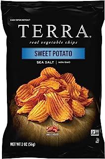 Terra Sweet Potato Vegetable Chips with Sea Salt, 2 Oz (Pack of 8)