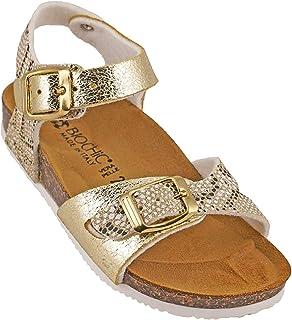012-331 Biochic Girls Sandals Metallic Gold