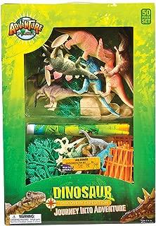 Adventure Planet Discovery Expedition Plastic Dinosaur Box Set, 50-Piece