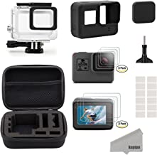 Kupton Accessories for GoPro Hero 7/6/ 5/ Hero (2018) Starter Kit Travel Case + Housing Case + Screen Protector + Lens Cov...