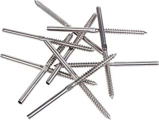 Blika 10Pack Lag Screw Swage Stud Fitting Terminal Thread for 1/8
