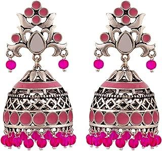 Voylla Jhumki Earrings for Women (Silver)(8907617887807)